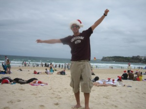 Christmas Day at Bondi Beach