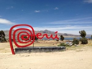 Crossing the Peru/Bolivian border