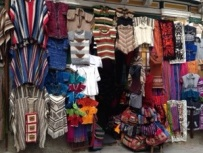 A typical market stall in La Paz