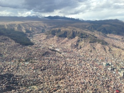 Flying over La Paz