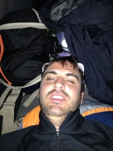 Me in the tent the first night